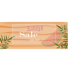 banner summer discount in white frame on the vector image
