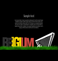 Belgium and a soccer ball at the gate vector