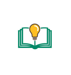 book ideas logo vector image