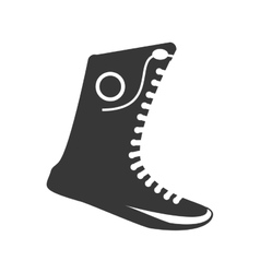 Boxing shoes equipment isolated icon vector