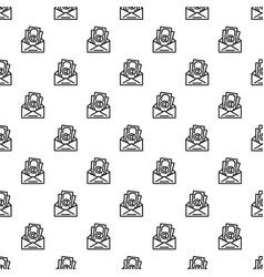 bribery money envelope pattern seamless vector image