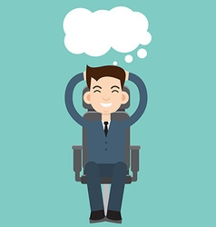 Businessman dreaming vector