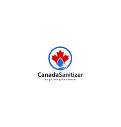 Canada hand sanitizer label with water drop vector