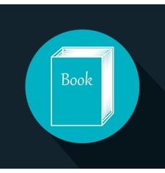 Cartoon big book reading design isolated vector