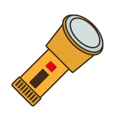 cartoon lantern light security protective work vector image