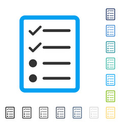 Checklist page icon vector