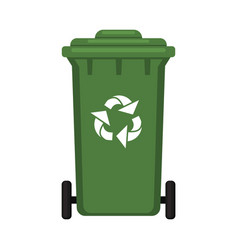Colorful cartoon closed dumpster vector