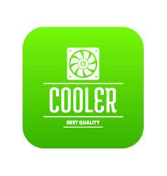 control cooler icon green vector image