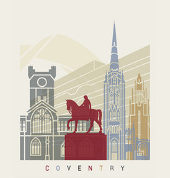 Coventry skyline poster vector