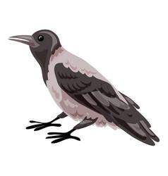 Crow icon cartoon style vector