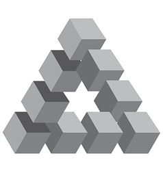 Cubed triangle vector image
