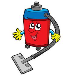 Cute vacuum cleaner vector