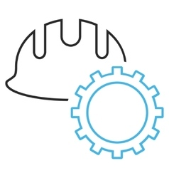 Development Hardhat Outline Icon vector