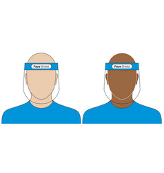 Doctors with a virus protective face shield vector