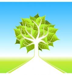 Eco tree design vector