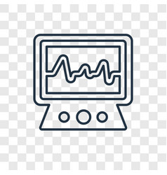 Electrocardiogram concept linear icon isolated on vector