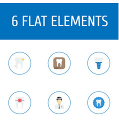 Flat icons cleaned brace radiology and other vector