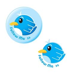 Follow me bird vector