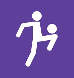 Football soccer juggling sport figure symbol vector