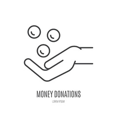 Fundraising Label vector image