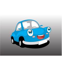 Funny blue car vector