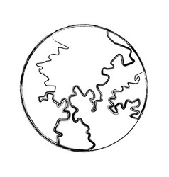 Globe world earth map geography icon vector