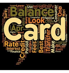 Guide To The Best Balance Transfer Credit Cards vector image
