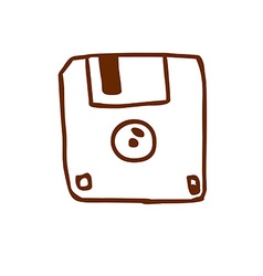 Hand Drawn Diskette vector image