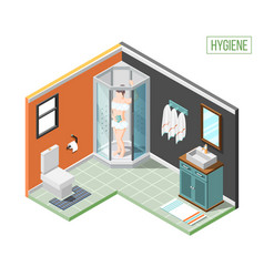 hygiene isometric design concept vector image