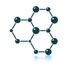 icon chemistry hexa connection atoms vector image