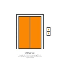 Icon elevator vector