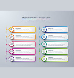 infographic design with 10 process steps vector image