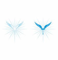 Jesus as an angel christian symbol vector