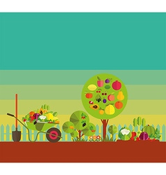 Kitchen garden vector