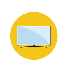 Led smart curved tv icon vector