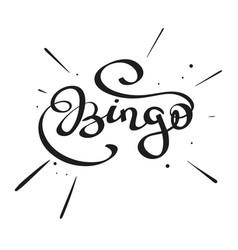 lettering - bingo vector image