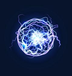 Lightning sphere powerful electrical energy vector