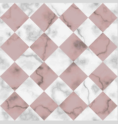 marble luxury check diagonal seamless pattern vector image