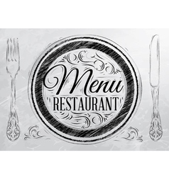 Menu Restaurant coal vector image