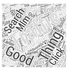 Mlm marketing with ppc word cloud concept vector