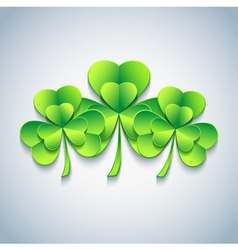 Modern Patricks day background 3d leaf clover vector image