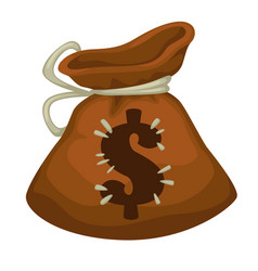 moneybag with dollar sign payment or savings icon vector image