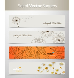 Nature web headers vector