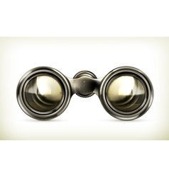 Old binoculars vector image vector image