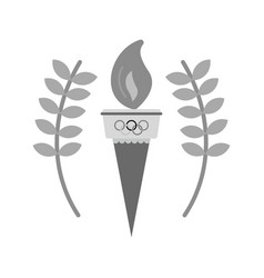Olympic torch vector