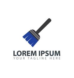 paint brush logo design template vector image