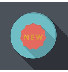 paper flat icon label new vector image