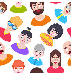pattern with different boys vector image