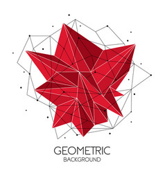 polygonal red abstract futuristic template low vector image