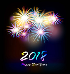 postcard happy new year 2018 vector image